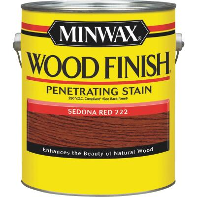Minwax Wood Finish VOC Penetrating Stain, Sedona Red, 1 Gal.