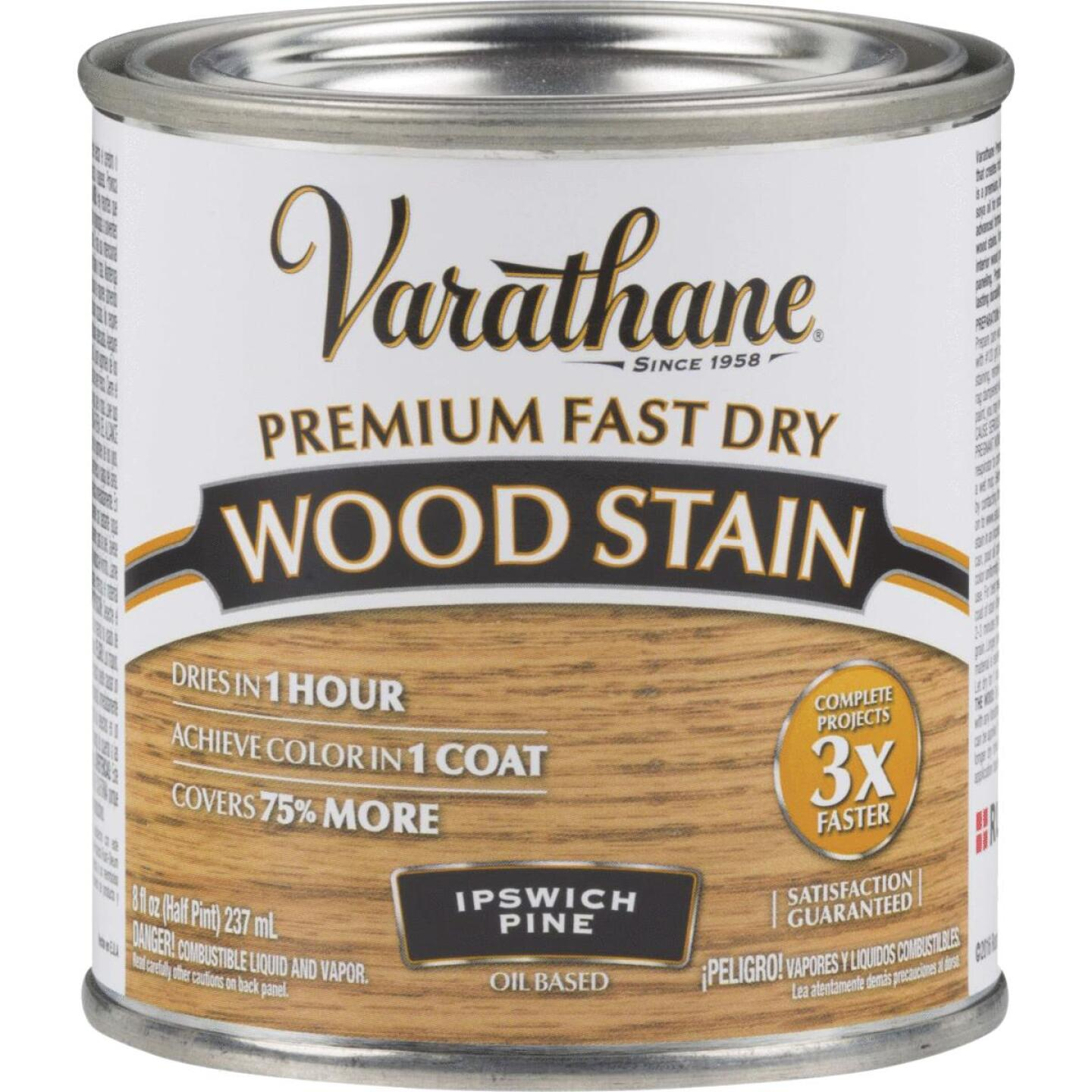 Varathane Fast Dry Ipswich Pine Urethane Modified Alkyd Interior Wood Stain, 1/2 Pt. Image 1