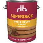 Duckback SUPERDECK Self Priming Solid Color Stain, Brillant White, 1 Gal Image 1