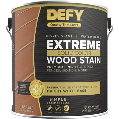 Defy Extreme 1 Gal. Bright White Solid Color Wood Stain
