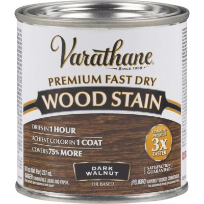 Varathane Fast Dry Dark Walnut Urethane Modified Alkyd Interior Wood Stain, 1/2 Pt.