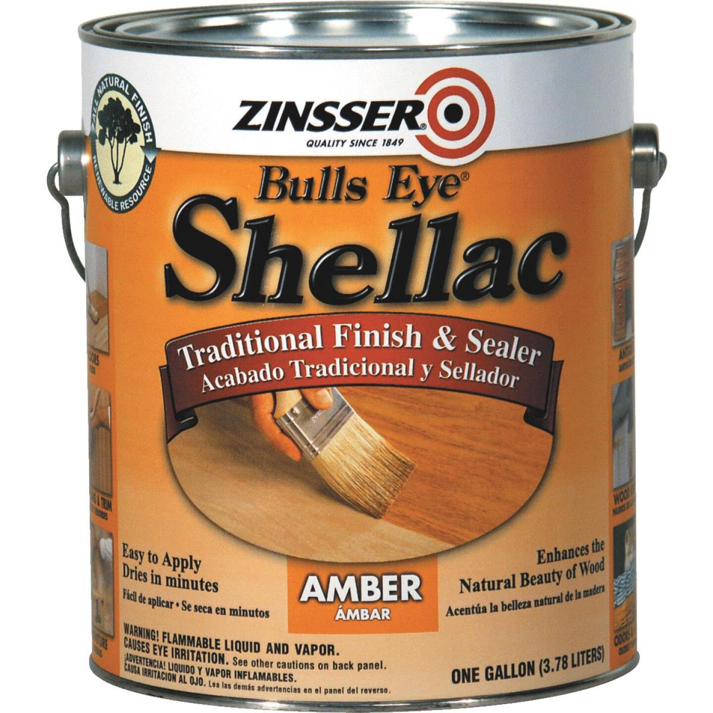 Zinsser Bulls Eye Amber Shellac, Gallon Image 1