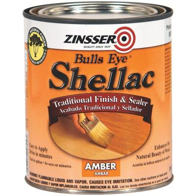 Zinsser Bulls Eye Amber Shellac, Quart