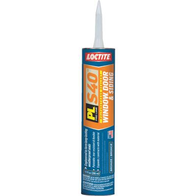 LOCTITE PL S40 10 Oz. Polyurethane Window, Door, & Siding Sealant, Bronze