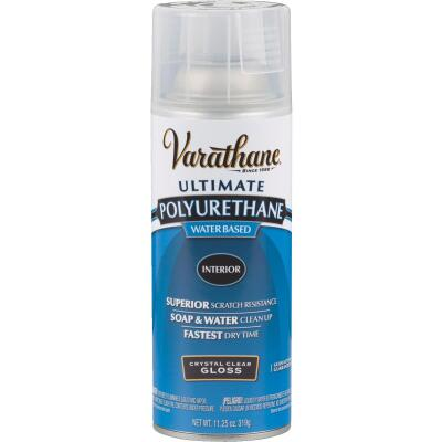 Varathane Gloss Clear Interior Water-Based Spray Polyurethane, 11.25 Oz.