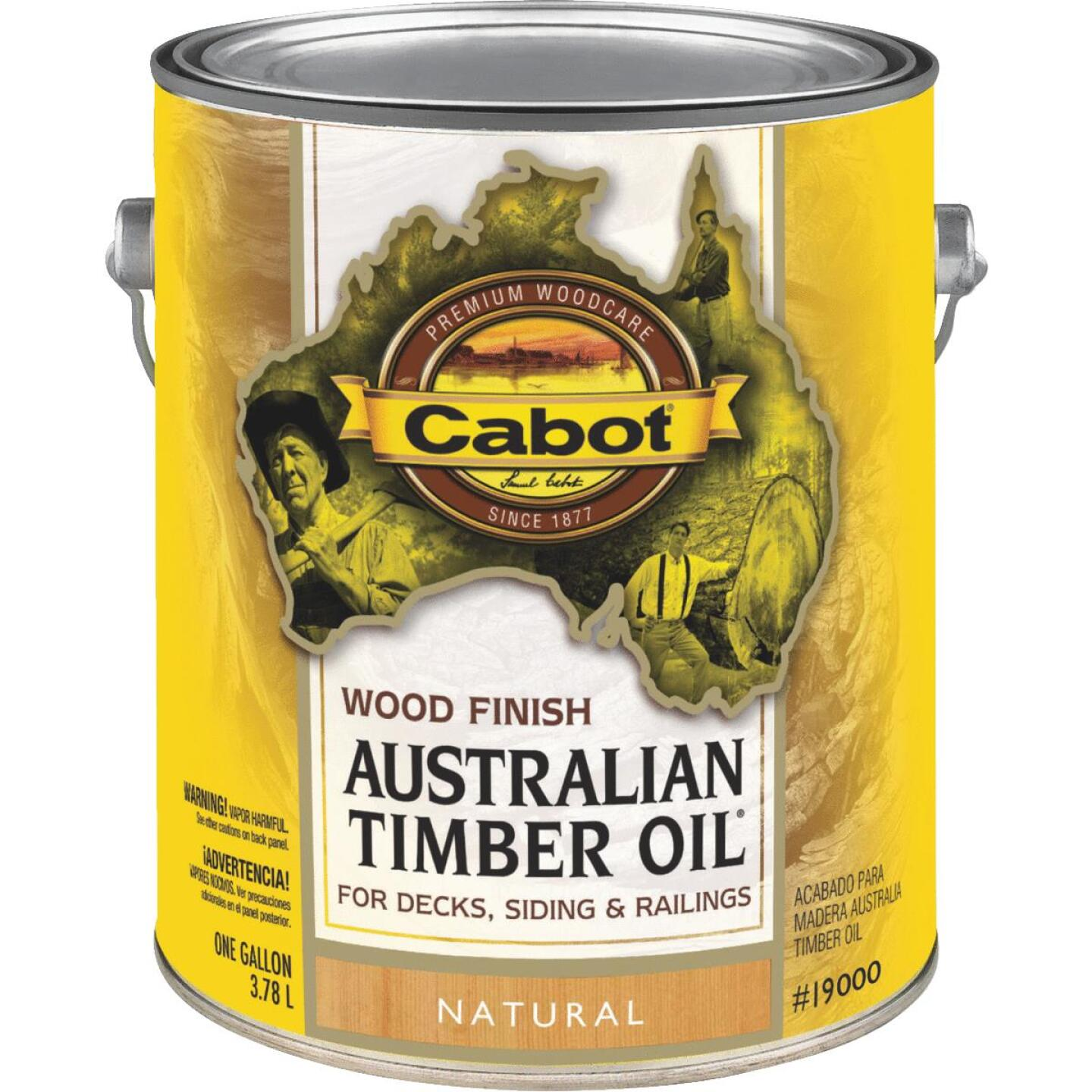 Cabot Australian Timber Oil Water Reducible Translucent Exterior Oil Finish, Natural, 1 Gal. Image 1