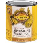 Cabot Australian Timber Oil Water Reducible Translucent Exterior Oil Finish, Amberwood, 1 Qt. Image 1