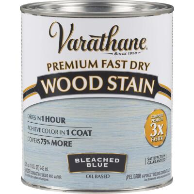 Varathane Fast Dry Bleached Blue Urethane Modified Alkyd Interior Wood Stain, 1 Qt.