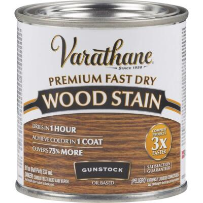 Varathane Fast Dry Gunstock Wood Urethane Modified Alkyd Interior Wood Stain, 1/2 Pt.