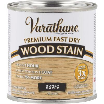 Varathane Fast Dry Honey Maple Urethane Modified Alkyd Interior Wood Stain, 1/2 Pt.