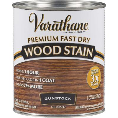 Varathane Fast Dry Gunstock Urethane Modified Alkyd Interior Wood Stain, 1 Qt.