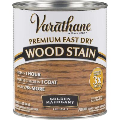Varathane Fast Dry Golden Mahogany Urethane Modified Alkyd Interior Wood Stain, 1 Qt.
