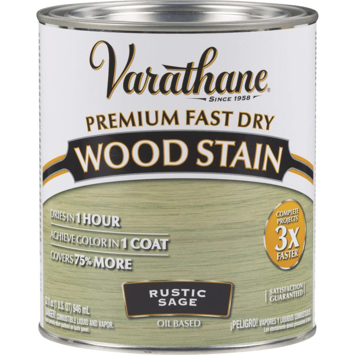 Varathane Fast Dry Rustic Sage Urethane Modified Alkyd Interior Wood Stain, 1 Qt. Image 1