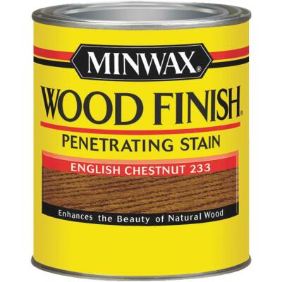Minwax Wood Finish Penetrating Stain, English Chestnut, 1/2 Pt.