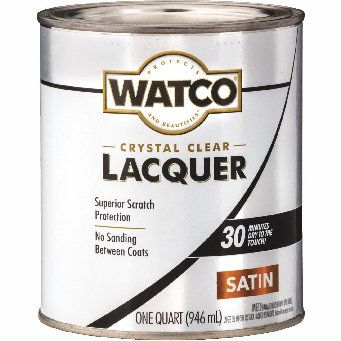 Watco Clear Satin Quart 87 Sq. Ft./Qt. Lacquer Image 1