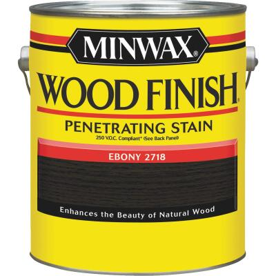 Minwax Wood Finish VOC Penetrating Stain, Ebony, 1 Gal.