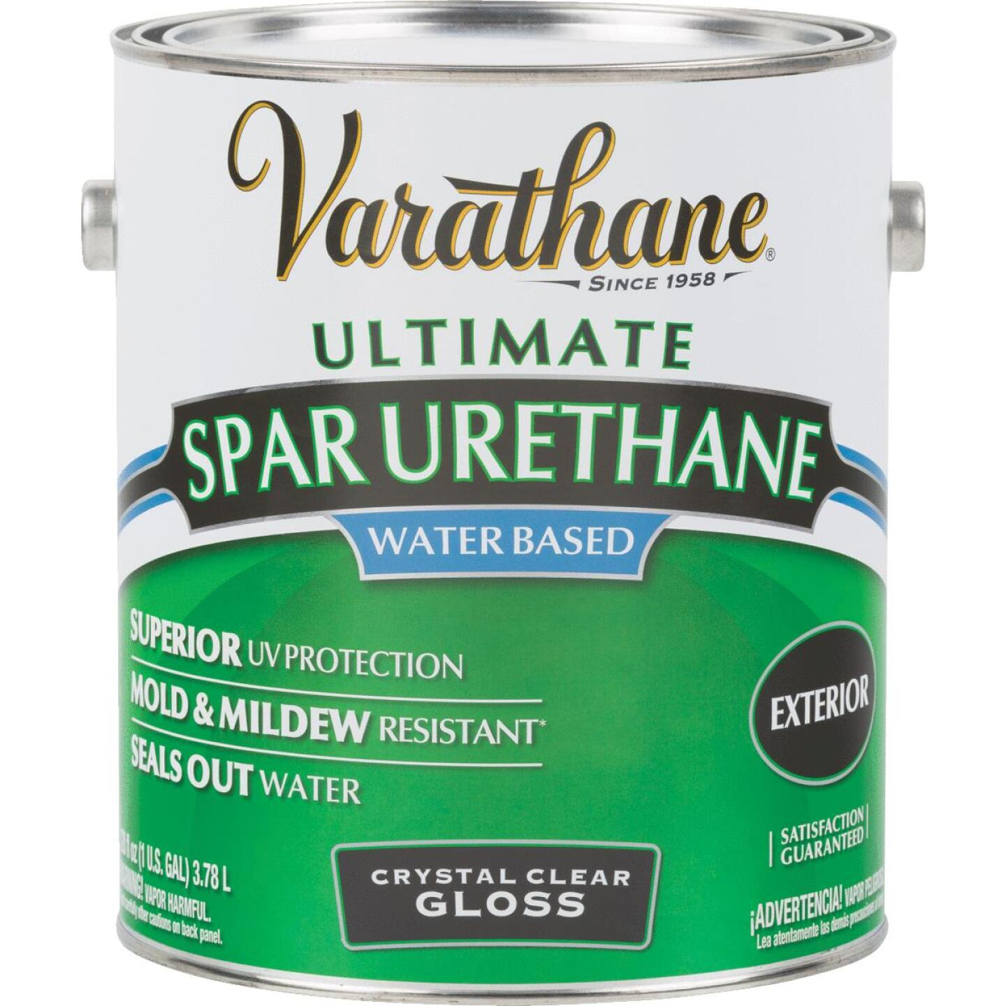 Varathane Gloss Clear Water Based Exterior Spar Urethane, 1 Gal. Image 1