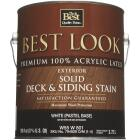 Best Look Solid Deck & Siding Exterior Stain, White Pastel Base, 1 Gal. Image 2