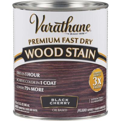 Varathane Fast Dry Black Cherry Urethane Modified Alkyd Interior Wood Stain, 1 Qt.