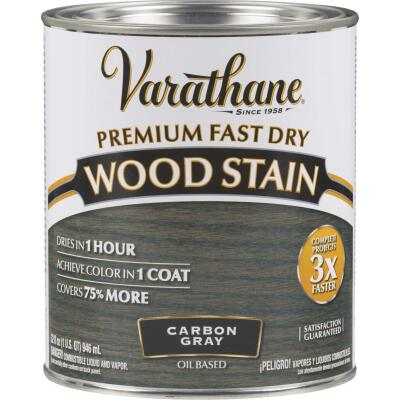 Varathane Fast Dry Carbon Gray Urethane Modified Alkyd Interior Wood Stain, 1 Qt.