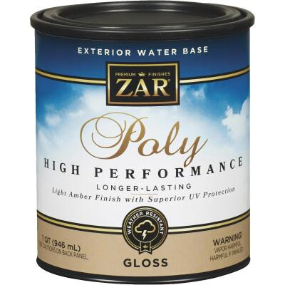 ZAR Gloss Clear Water Based Exterior Polyurethane, 1 Qt.