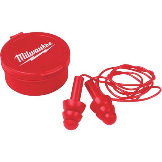Milwaukee Silicone 26 dB Corded Ear Plugs (3-Pair)