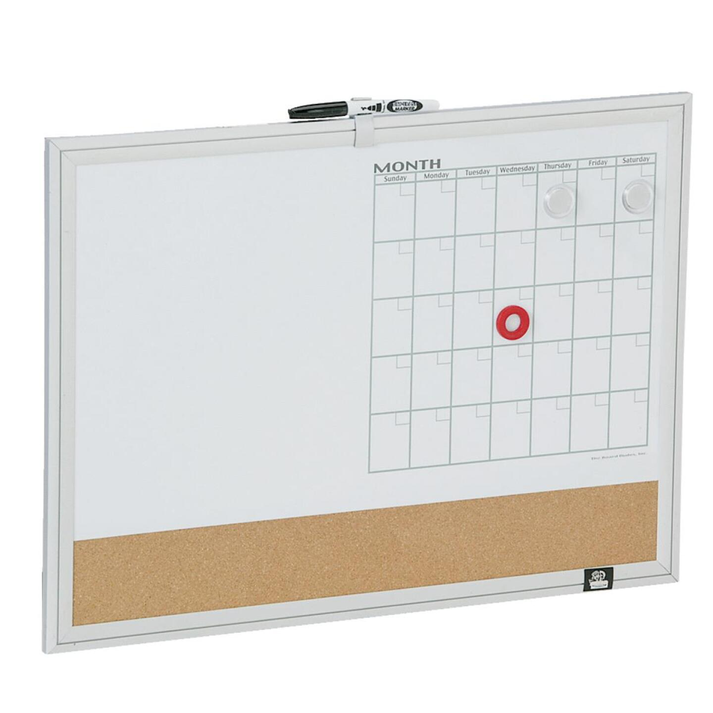 The Board Dudes 17 In. x 23 In. 3-in-1 Magnetic Dry-Erase Board Image 1