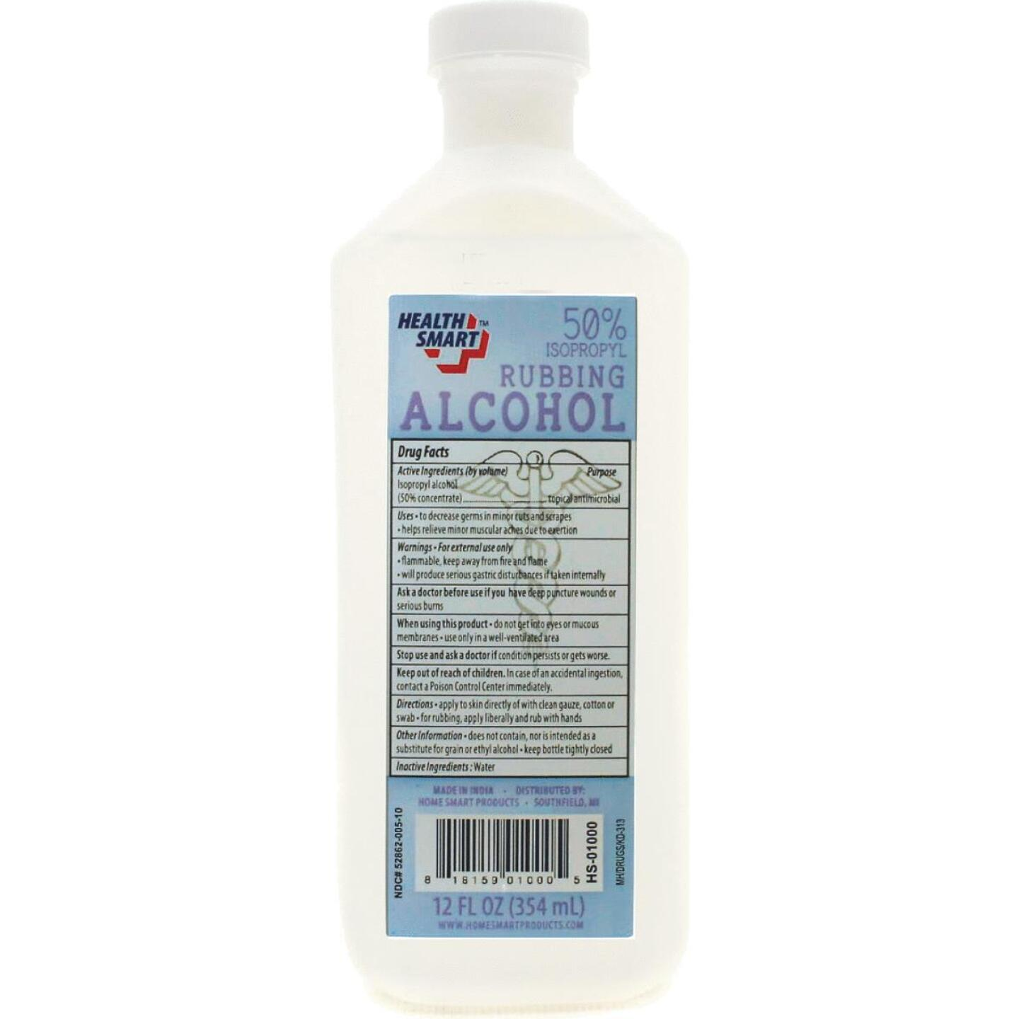 Health Smart 12 Oz. Rubbing Alcohol Image 2