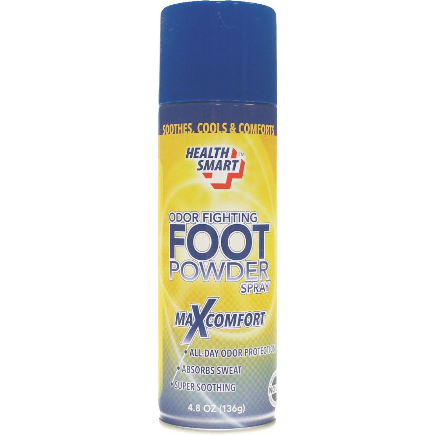 Health Smart 4.8 Oz. Odor Fighting Foot Powder Spray Image 1